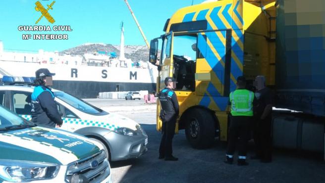 Guardia Civil detiene a cinco camioneros en 2019 por conducir en estado ebrio