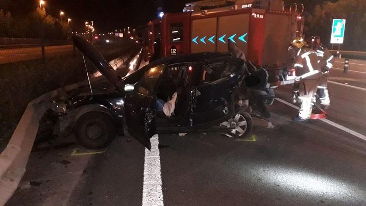 Un bebé de 17 días muere en un accidente de coche causado por un conductor drogado en la C-32 Barcelona