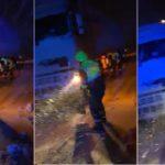 La Guardia Civil de Albacete demuestra humanidad, auxiliando a golpe de pala un camión en la N-344