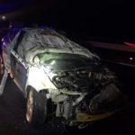 Heridos dos Guardias Civiles, tras una brutal colisión contra un Audi Q7 robado que perseguían