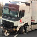 Tres heridos, en la colisión de un camión de Lodisna que perdió el control, colisionando contra dos coches en la A75 Francia