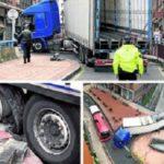 Multan con 3000 euros al camión atrapado por el GPS en Barakaldo