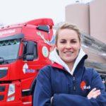 Elke Yland, 21 años y conductora de  tráilers. «Siempre me gustaron los camiones»