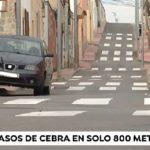 Una calle de Cartagena de solo 800 metros tiene 24 pasos peatones