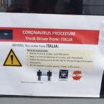 Comienzan a surgir casos decamioneros en cuarentena tras viajar a Italia