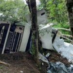 Fallece un un camionero, su esposa y su hija de 3 años, en un accidente, tras cruzar el paso Samoré