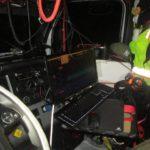Un camionero es detenido en un control y descubren un estudio de grabación