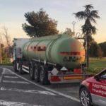 Denunciado un camionero que transportaba mercancías sujetas a ADR por positivo en drogas en Marcilla