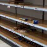 Las tiendas en Italia están tan vacías después de las compras de pánico
