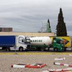 Los camioneros queman el tacógrafo: «Llevo 10 horas conduciendo sin comer»