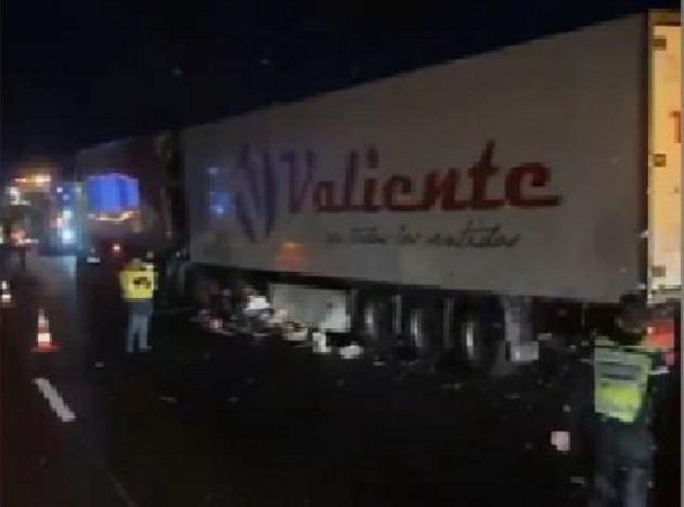 Herido de gravedad el conductor de un camión español en la A-63 Landas