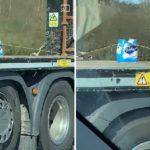 Un solo rollo de papel higiénico bien atado en un camión sacude la red. Vídeo