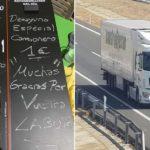 Un menú para camionero a 2 euros y desayuno especial por 1.  Muchas gracias por vuestra labor