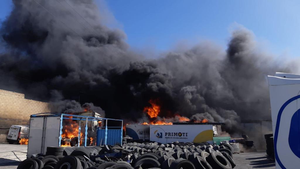 Incendio bomberos Primoti