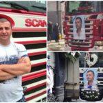 El emotivo cortejo fúnebre a un camionero de 41 años que falleció en la cabina dejando esposa y dos niñas huérfanas