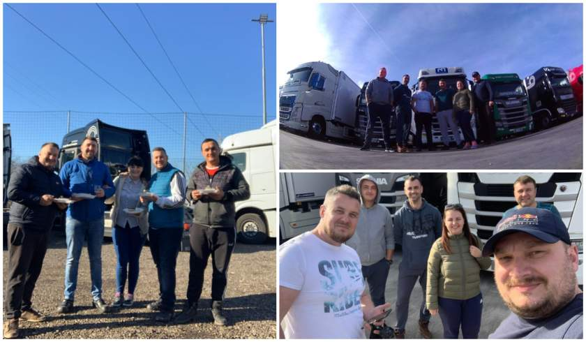 Docenas de camioneros no quieren volver a casa: No queremos ser considerados leprosos porque venimos de Italia