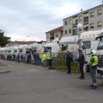 Guardia Civil, Policías Locales y Transportistas, unidos en un Emotivo Homenaje a los Sanitarios del Hospital de Verín