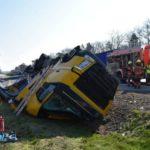 Herido el conductor de un camión de Waberer´s al perder el control y volcar en Alemania