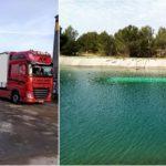 Un camionero duerme en Francia, lo asaltan con un arma, le obligan a descargar y hunden el camión