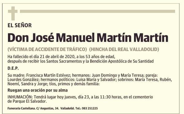 José Manuel Martín, el camionero que murió en el tramo sin desdoblar de la NII, era de Valladolid y tenía 53 años