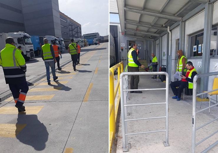 Los chóferes expuestos en las grandes plataformas, obligados a bajar del camión, entregar las llaves y estar donde no se puede guardar la distancia