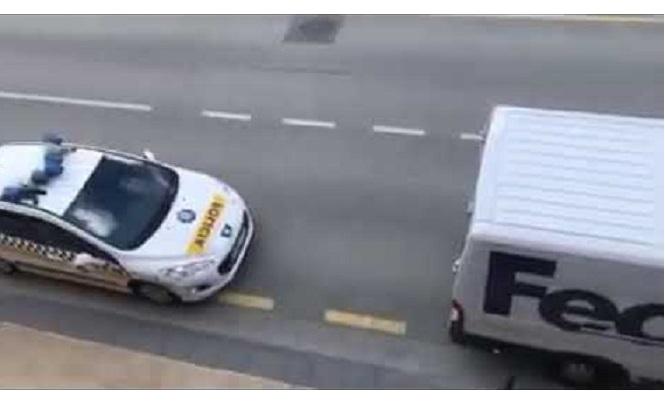 Comunicado del transportista denunciado con 1500€ por pararse 2 segundos.  «Uno ya está cansado de soportar abusos»