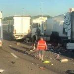 Fallece un camionero portugués en la colisión de 4 camiones en la E17 en Bélgica
