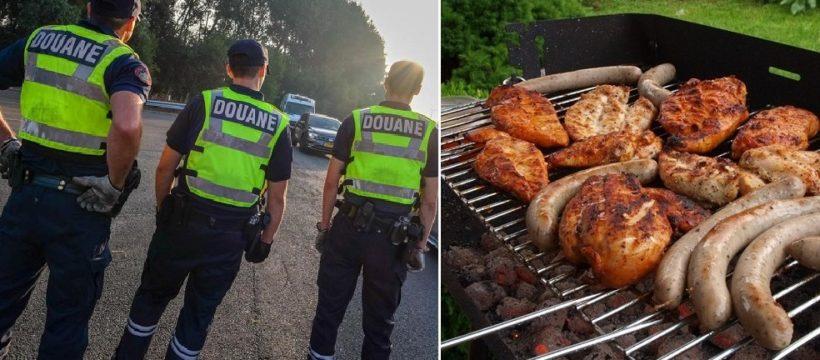 Tres policías de aduanas de servicio atrapados borrachos en una barbacoa en la frontera belga con Países Bajos