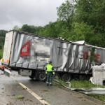 Un herido en el fatal accidente de un camión traíler articulado a la altura de Gorriti