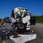 Tres camioneros heridos graves, en un violento choque de de 5 camiones en la autobahn A6 entre Sinsheim y Bad Rappenau