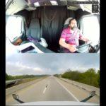 Camionero queda dormido muy lentamente por fatiga,  en una carretera monótona, desierta y ocurre lo inevitable