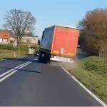 Filmado un camión haciendo eses y su conductor ebrio con 2,5 de alcohol en sangre en Polonia