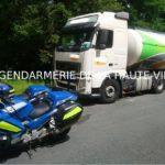 Los gendarmes detectan y denuncian a un camión español que viajaba a 146 km/h en la Autopista A-20