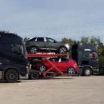 Un camionero español pierde un automóvil sin percatarse en Alemania porque estaba mal asegurado