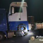 Denunciado un camión polaco cuya carga estaba asegurada de manera completamente inadecuada