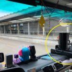 Denunciado un camionero porque la policía dice que la cafetera interfiere el campo de visión