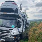 Un camionero de una empresa de transporte española al límite debido a un GPS mal calibrado