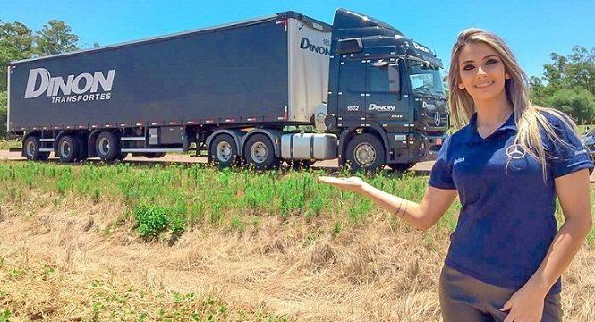 Paula Demeneghi 24 años y camionera «Es un Santo Ángel»  De niña usaba una cuerda para tirar de camiones de juguete
