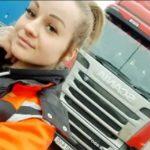 Elin de 22 años y camionera. Viaja con un camión de 24 metros de largo entre Karlstad y Estocolmo