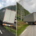 Un camión se atasca dos veces el mismo día en Noruega. La esposa del camionero tuvo que vender el coche para afrontar los gastos