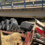 Fallece una mujer de 35 años, al estrellarse el camión con dos niños y el conductor por un viaducto en la A-49