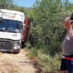 Un camionero ucraniano queda atrapado en un camino de tierra en Huesca por seguir el GPS