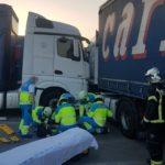 Herido muy grave un camionero tras quedar atrapado entre dos camiones en un polígono de Fuenlabrada