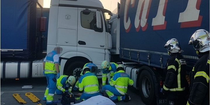 herido camionero fuenlabrada