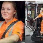 Maja Stomby, la camionera sueca de 22 años que trabaja como piloto de pruebas para Scania
