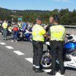 La Guardia Civil «caza» a un grupo de motoristas con unas copas de más en Pontevedra
