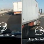 El conductor de una furgoneta denuncia que el camión de la DGT le persigue peligrosamente. Vídeo.