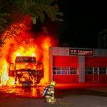 Un camionero en coma, tras incendiarse el camión mientras dormía en los Países Bajos