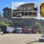 «Los camioneros indignados» La Policía denuncia los camiones aparcados en el aparcamiento del Restaurante Castro