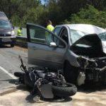 Un padre ve morir a su hijo, un joven de Barcelona, en un accidente de moto en Dumbría